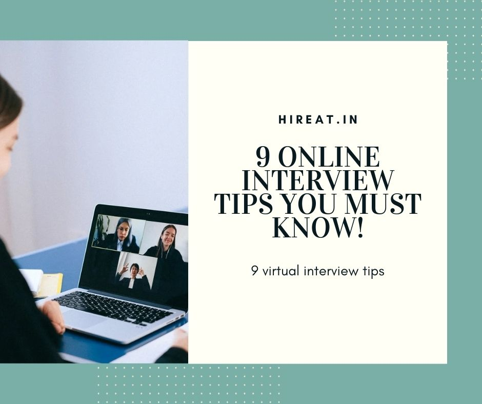 9 Online Interview Tips You Must Know!
